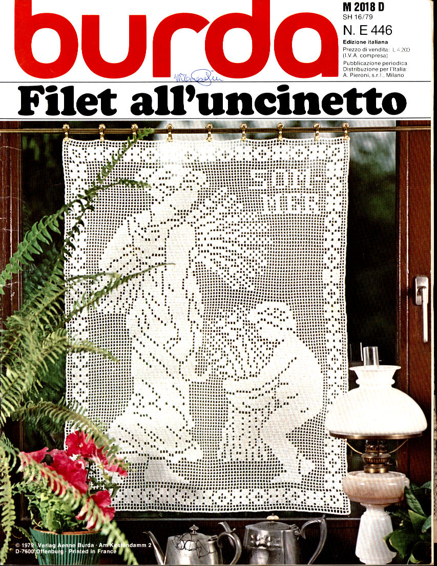 Burda uncinetto numeri speciali monografici for Burda filet all uncinetto