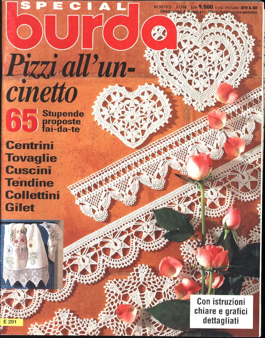 Burda uncinetto numeri speciali monografici for Pizzi all uncinetto per lenzuola